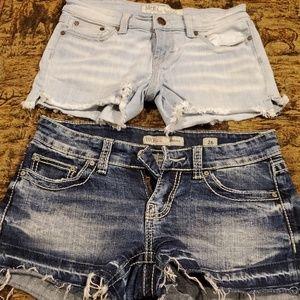 BUNDLE size 26 BKE jean shorts